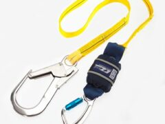 DBI SALA EZ-Stop 2M Elasticated Expander Webbing Shock Absorbing Lanyard with Scaffold Hook 1245539