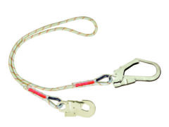 Protecta 2M Fall Restraint Rope Lanyard with Scaffold Hook AL420C2